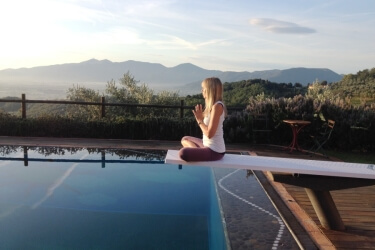 Yoga in Italy Sunrise Meditation