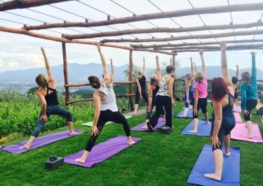 Italy yoga retreat may 2017 caroline kelley yoga in italy for How to build an outdoor yoga platform