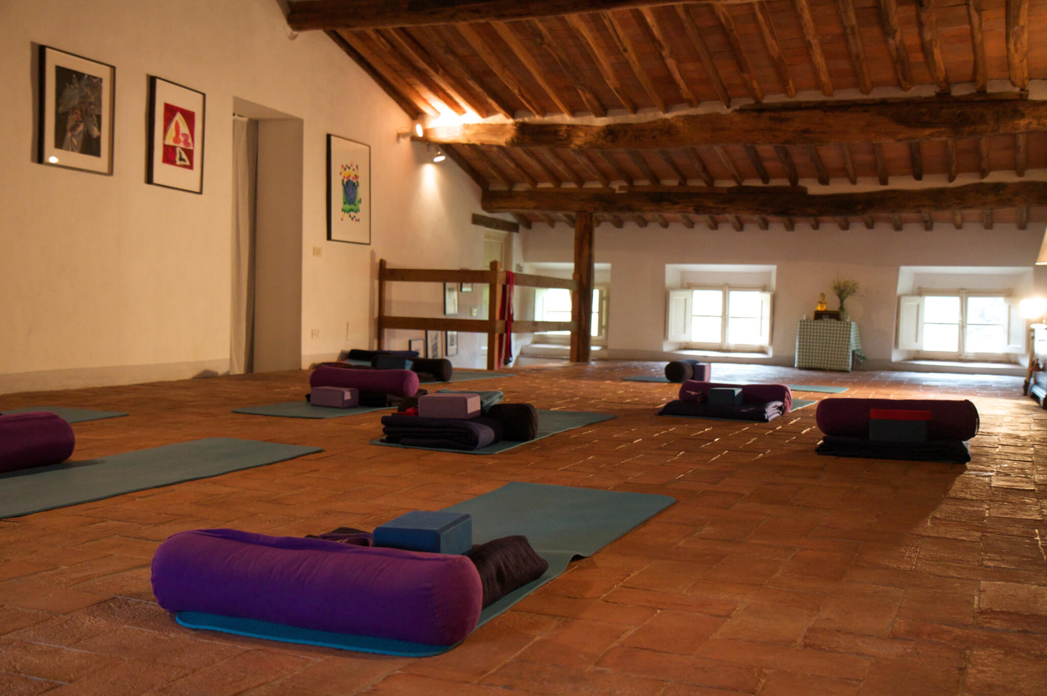 Yoga Room - Villa Benvenuti Retreat Centre