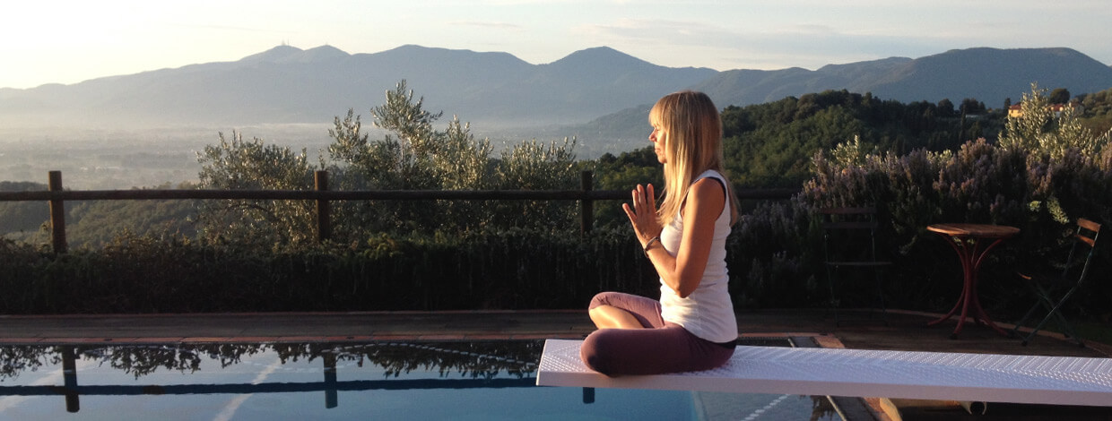 Yoga in Italy Mindfulness in the morning