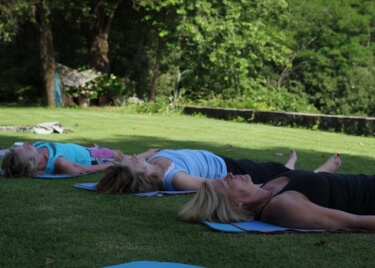 Yoga in Italy Retreats with outdoor yoga practice