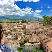 Yoga in Italy Excursion - Panorama view from Torre Guinigi tower in Lucca