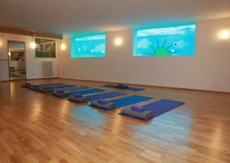 Indoor Yoga Room with views to the swimming pool