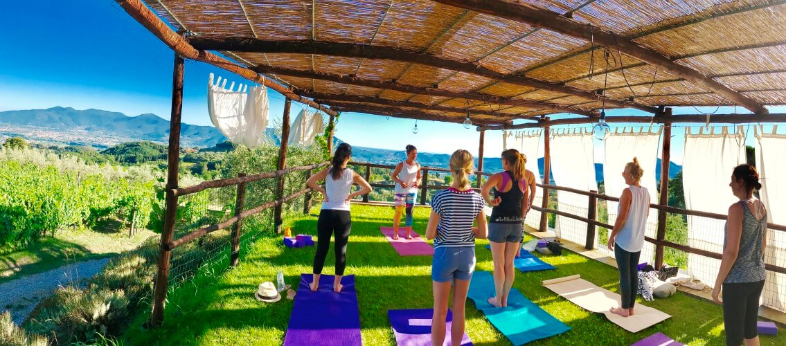 Outdoor Yoga Deck