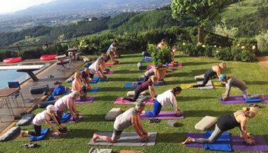 Outdoor Yoga at Il Borghino